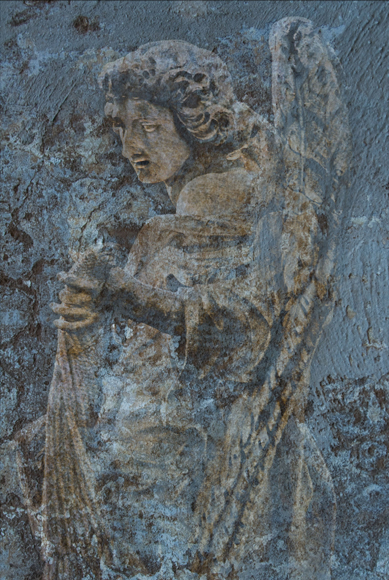 Angel with Rope (blue) 2009 Rome ref# 6751_fresco